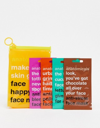 Anatomicals ASOS Exclusive Make Your Skin Grin Face Happy Face Masks