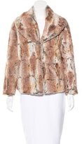 Alice + Olivia Shawl Collar Faux Fur Jacket