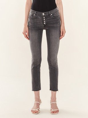 Hudson Jeans Nico Mid Rise Skinny Crop Button Fly Jeans