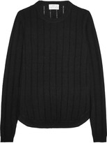 Tanya Taylor Augustus ribbed wool and cashmere-blend sweater