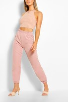 Thumbnail for your product : boohoo Woven Tailored Joggers