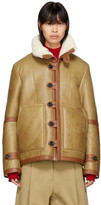 Joseph Reversible Tan Shearling Witham Jacket