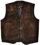 Coolhides Mens Suede Leather Vest with leather laces