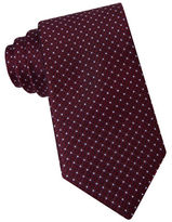 Michael Kors Fancy Neat Dot Textured Silk Tie