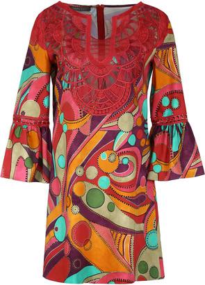 Alberta Ferretti Printed Cotton Dress