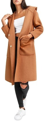 Belle & Bloom Walk This Way Camel Wool Blend Oversized Coat