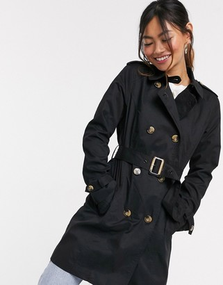 Pimkie short length trench in black