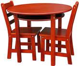 Cherry Kids' Three-Piece Round Table & Chair Set