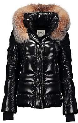 SAM. Women's Decade Fox Fur-Trim Down Puffer
