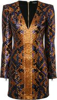 Balmain structured mini dress - women - Cotton/Polyester/Viscose - 38
