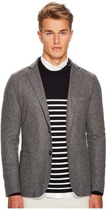 Eleventy Laser Cut Flannel Jacket (Grey) Men's Coat