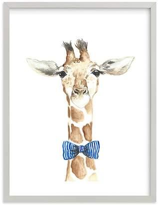 Pottery Barn Kids Dapper Giraffe Wall Art By Minted®,11X14, Black