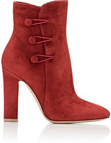 Gianvito Rossi Women's Savoie Ankle Booties-BURGUNDY