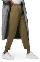 Topshop Women's 'Mensy' Corduroy Peg Trousers