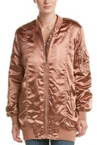 Cotton Candy Ruched Bomber Jacket.