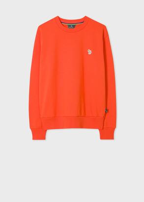 Paul Smith Women's Orange Zebra Logo Organic Cotton Sweatshirt