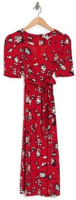 Veronica Beard Joia Floral Print Midi Dress