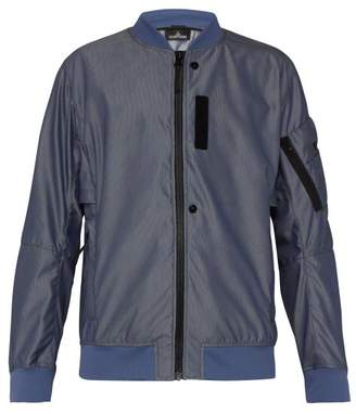 Stone Island Shadow Project - Striped Jacquard Bomber Jacket - Mens - Blue