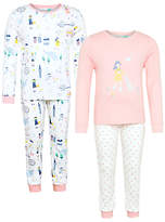 John Lewis Children's Park Day Pyjamas, Pack of 2, Pink/White