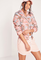 Missguided Camouflage Bomber Jacket Pink
