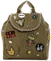 Steve Madden Wilson Patched Canvas Backpack