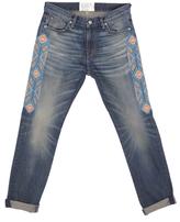 SANDRINE ROSE Skinny Embroidered Boyfriend Jean In Chimayo