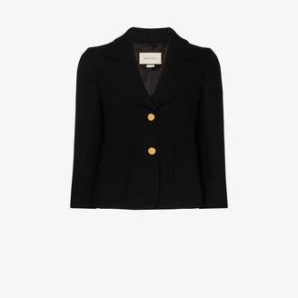 Gucci Three-Quarter Sleeve Boucle Blazer