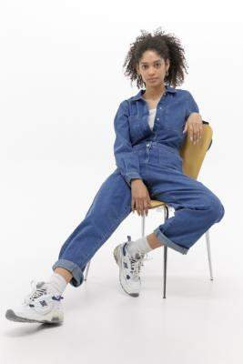 Tommy Jeans Denim Boilersuit - blue 27 at Urban Outfitters