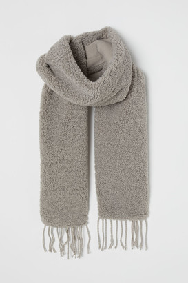 H&M Faux Shearling Scarf - Gray