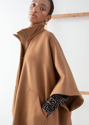 And other stories Voluminous Wool Blend Cape