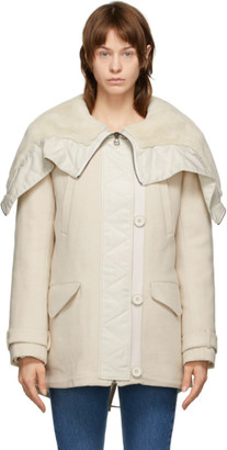 Army by Yves Salomon Yves Salomon - Army Beige Wool and Shearling Jacket