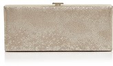 Halston Flat Metallic Leather Minaudière