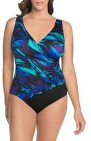 Longitude Abstract Print One-Piece Swimsuit