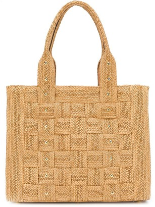Casadei Large Studded Tote Bag