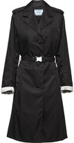 Prada buckled nylon gabardine coat
