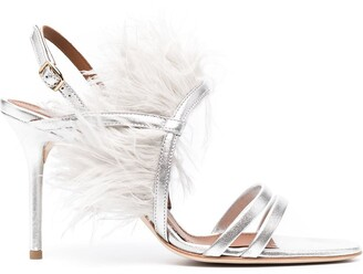 Malone Souliers Sonia feather embellished sandals