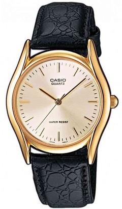 Casio Men's Analogue Quartz Watch with Leather Strap MTP1154PQ-7AEF