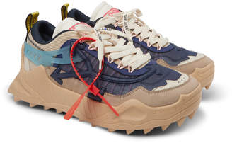 Off-White Off White Odsy-1000 Suede, Mesh And Rubber Sneakers