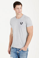True Religion Hand Picked Double Puff Grey Mens Tee