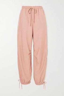 See by Chloe Tie-detailed Crepe Tapered Pants - Light brown