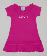 Princess Linens Hot Pink Ruffle Personalized Dress - Infant Toddler & Girls