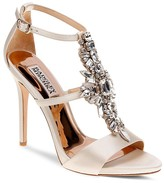 Badgley Mischka Basile Embellished T Strap High Heel Sandals