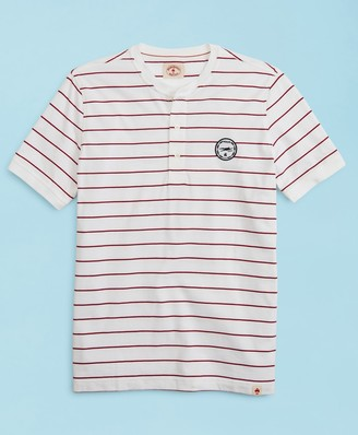 Brooks Brothers 2019 Head Of The Charles Regatta Striped Jersey Short-Sleeve Henley