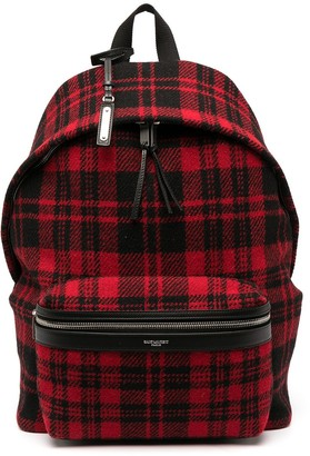 Saint Laurent Tartan Check Backpack