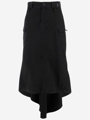 Balenciaga Pocket Detail Asymmetric Skirt