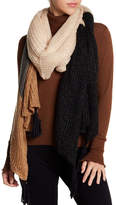 Collection XIIX Shine Oversized Knit Wrap Scarf
