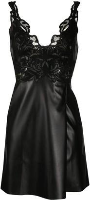 Ermanno Scervino Faux Leather Mini Dress