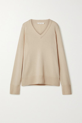 The Row Elaine Oversized Wool And Cashmere-blend Sweater - Beige