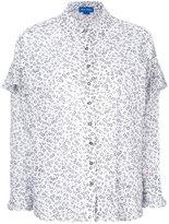 MiH Jeans ruffle printed shirt