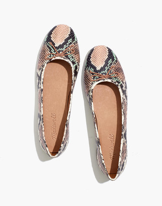 Madewell The Adelle Ballet Flat in Snake Embossed Leather